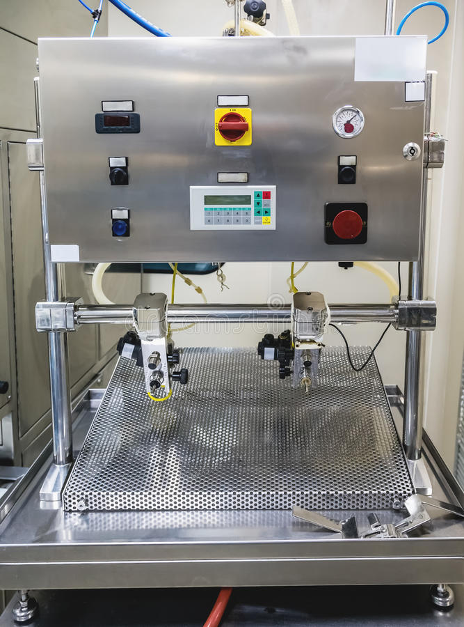 Special equipment or device on pharmaceutical industry. Or chemical plant stock images