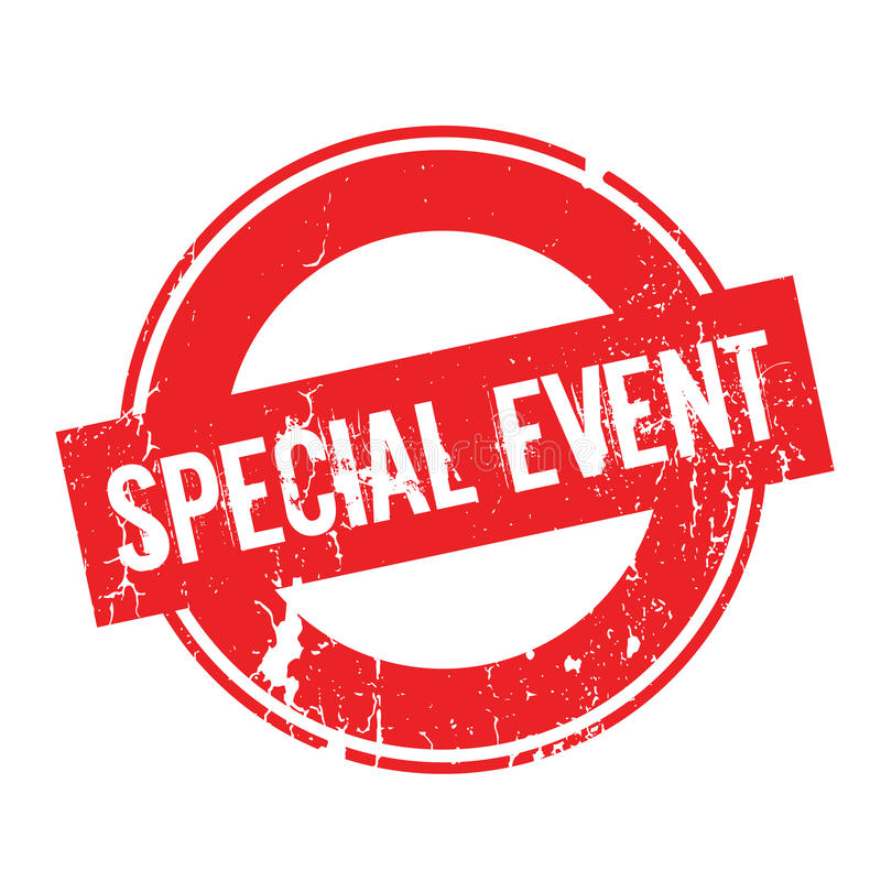 Special Event rubber stamp royalty free illustration