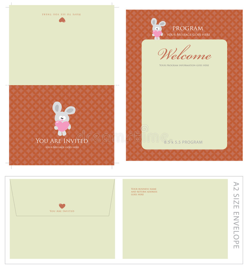 Free Special Event Templates And Envelope Royalty Free Stock Image - 9083186
