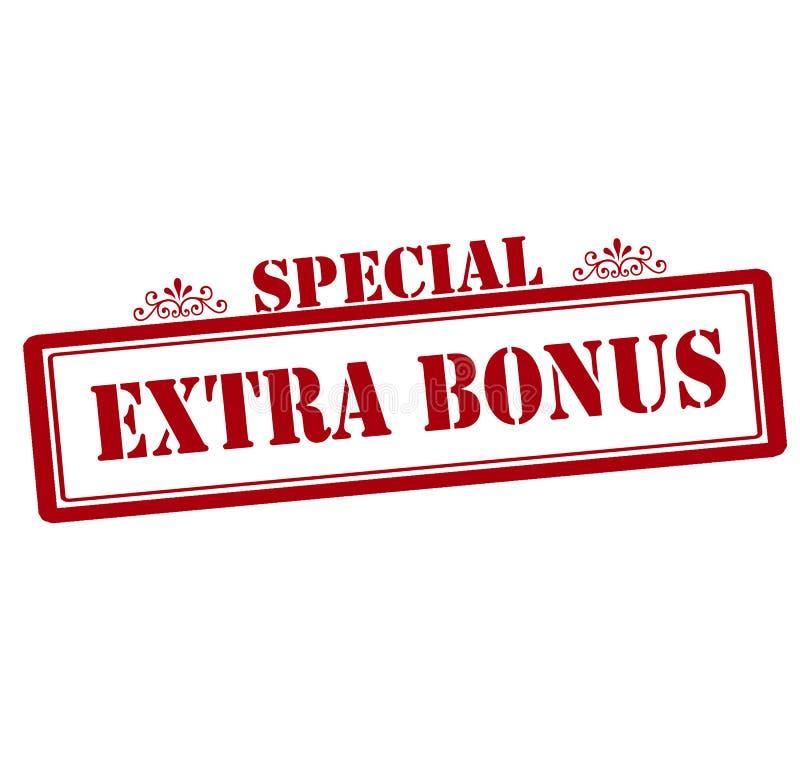 Special extra do bônus ilustração stock