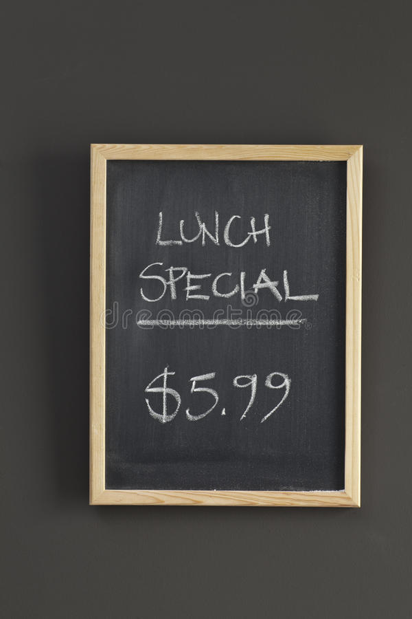 special för lunchmenytecken royaltyfri fotografi
