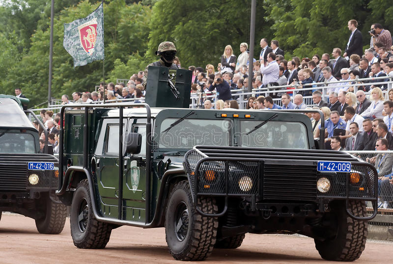 Special forces combat vehicle on parade-1