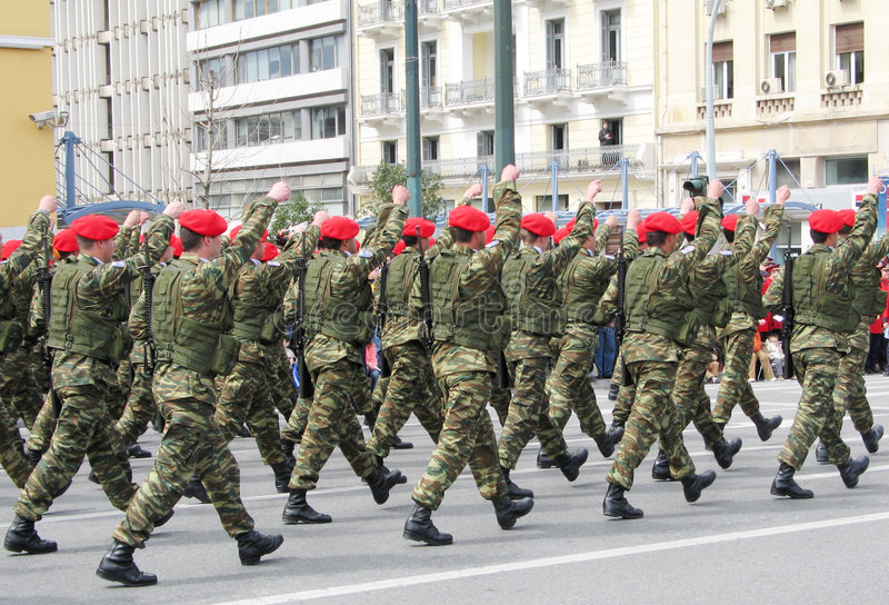 Special Forces Marching stock image