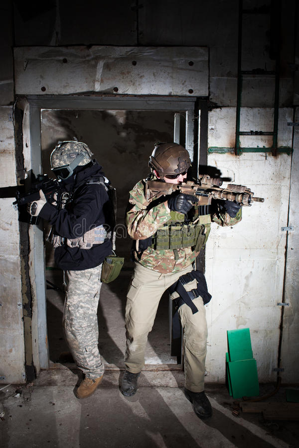 Special forces soldiers or private security contractor team stock photo