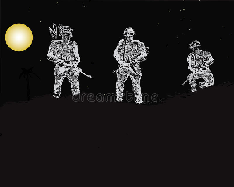 Special Forces Unit royalty free illustration