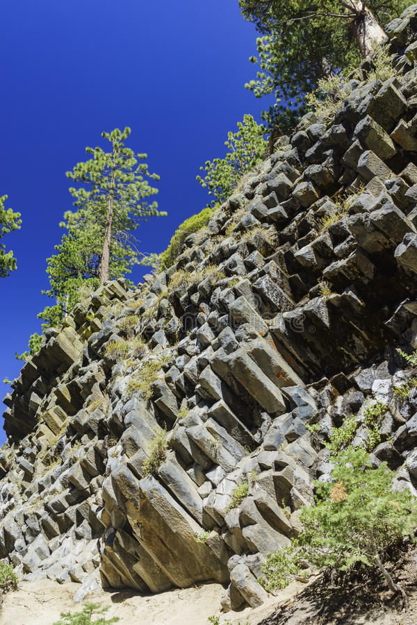 Special Geology in Devils Postpile National Monument stock image