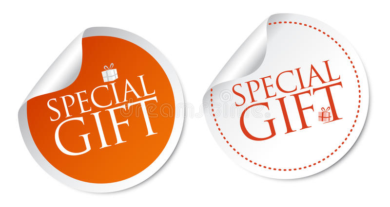 Special Gift Stickers Stock Photos