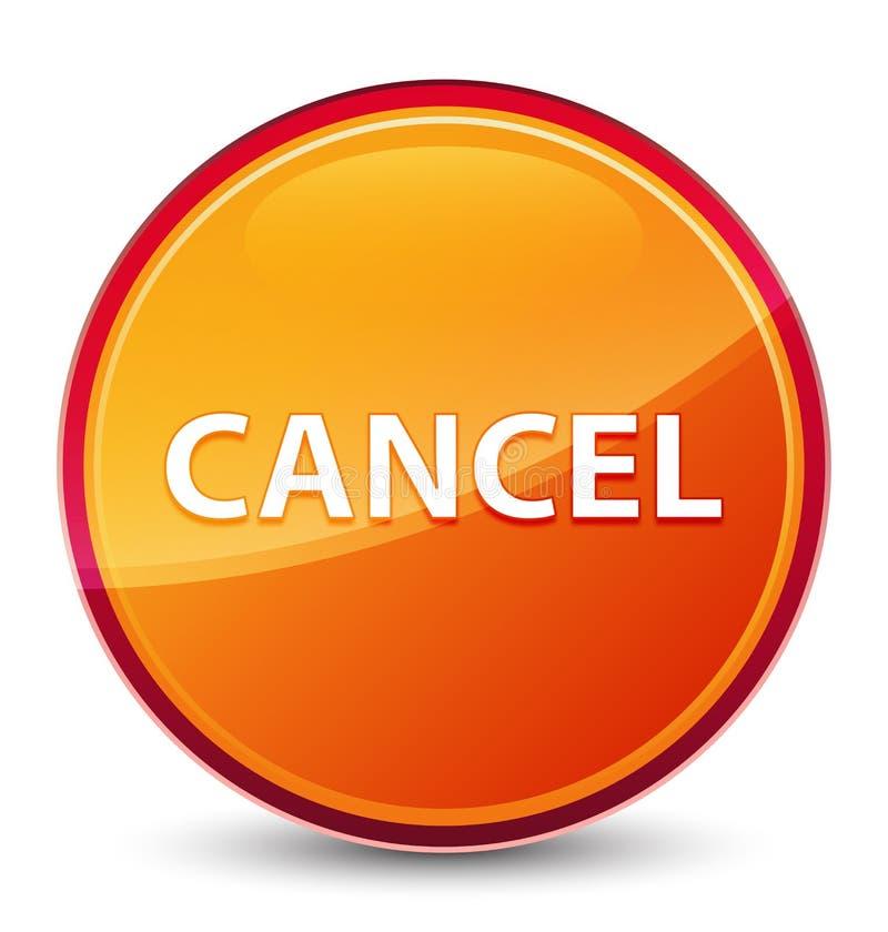 Special glas- orange rund knapp för annullering stock illustrationer