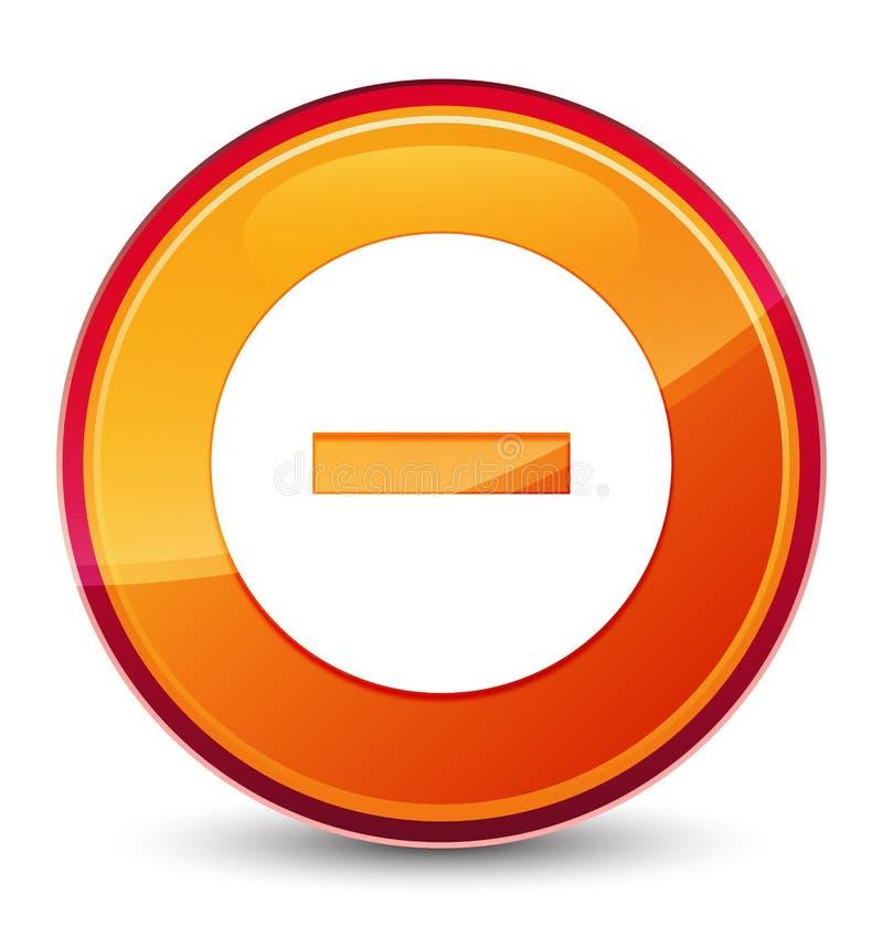 Special glas- orange rund knapp för annulleringssymbol vektor illustrationer