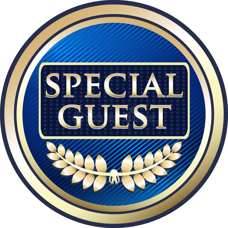 Special Guest Luxury Gold Label Icon royalty free illustration