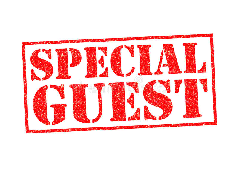 SPECIAL GUEST royalty free illustration