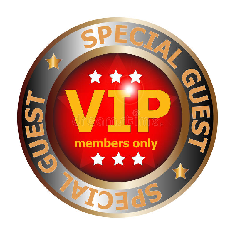 Special guest VIP badge vector illustration