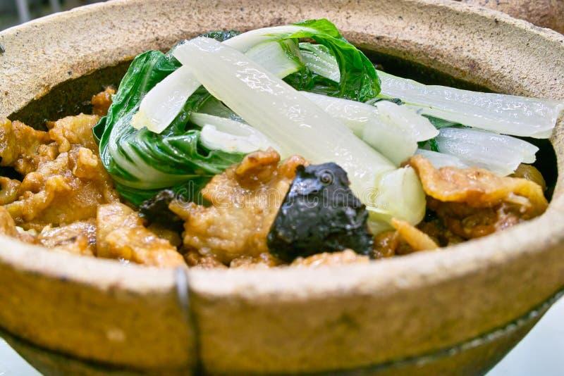 Special hot pot rice stock image