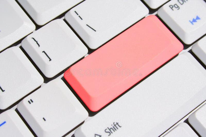Special Keyboard – Red Blank Enter Key. Keyboard With Special Red Blank Enter Key stock image