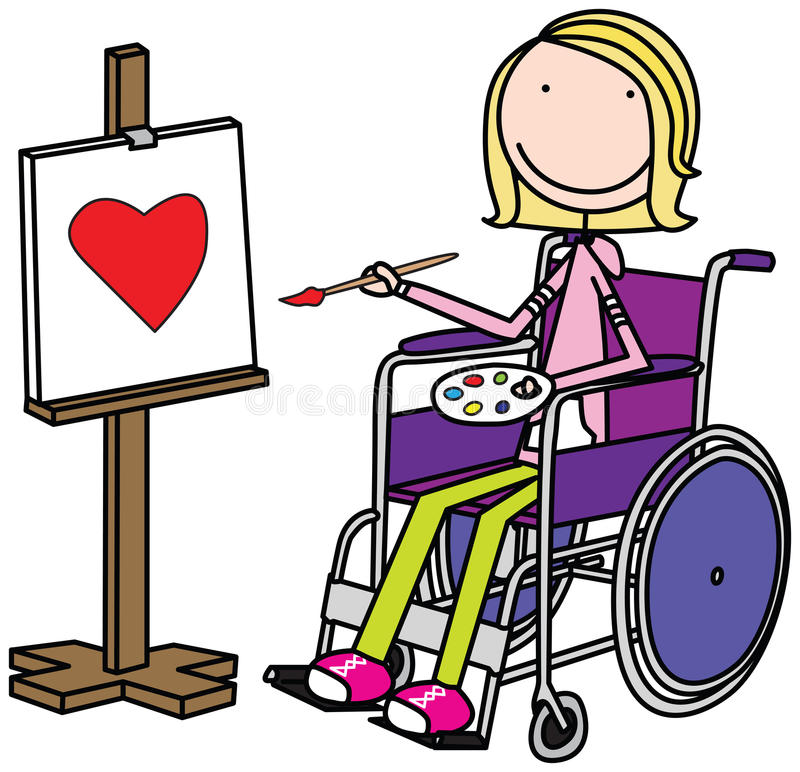 Special kid stock illustration