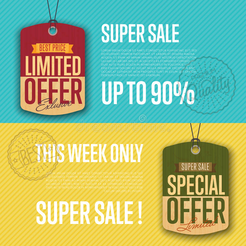 Special and limited offer isolated sale sticker stock illustration