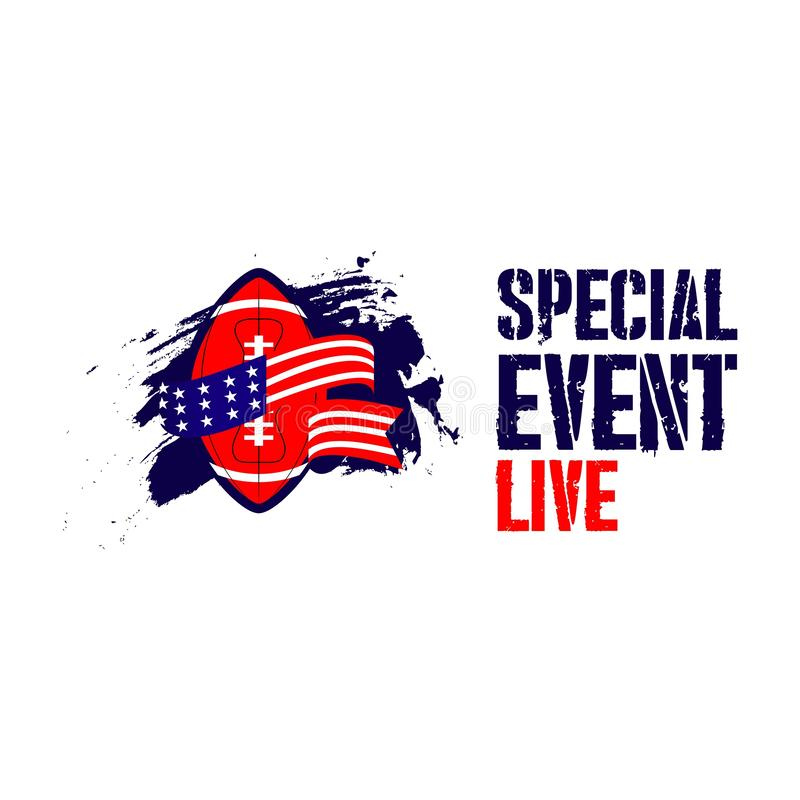 Special Live Event Vector Template Design Illustration. Live, birthday, news, vector, show, party, special, background, van, sign, event, symbol, cartoon, room royalty free illustration