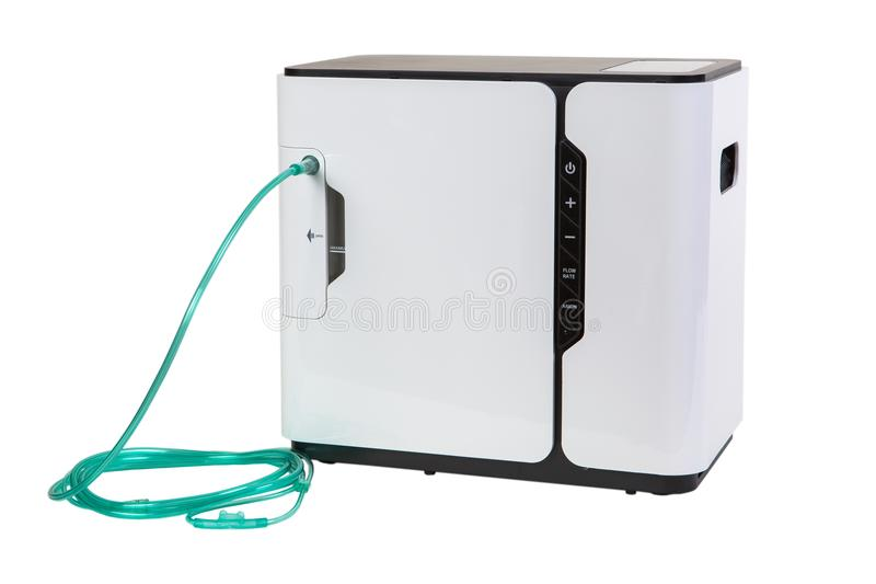 Special mediacl equipment - oxygen concentrator bar isolated on royalty free stock images