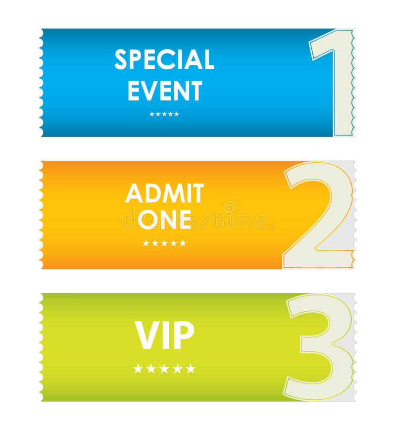 Special modern ticket template royalty free illustration