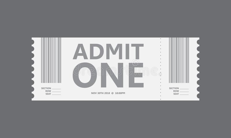 Special movie ticket royalty free illustration