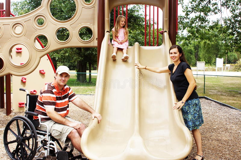Special Needs Family stock image