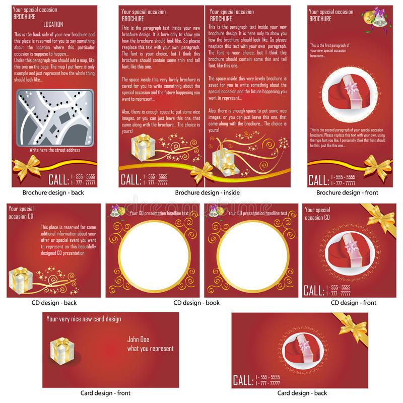 Download Special Occasion Stationary Template Stock Vector - Illustration: 22560845