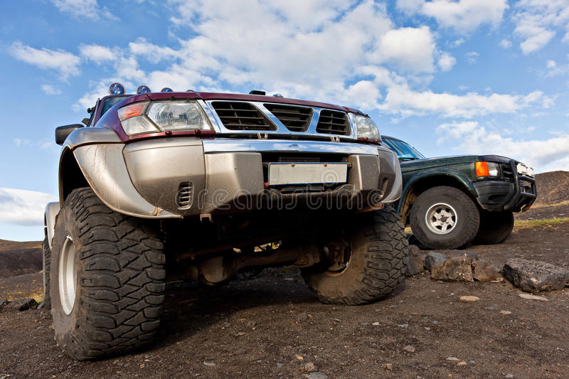 Special off road cars stock photos