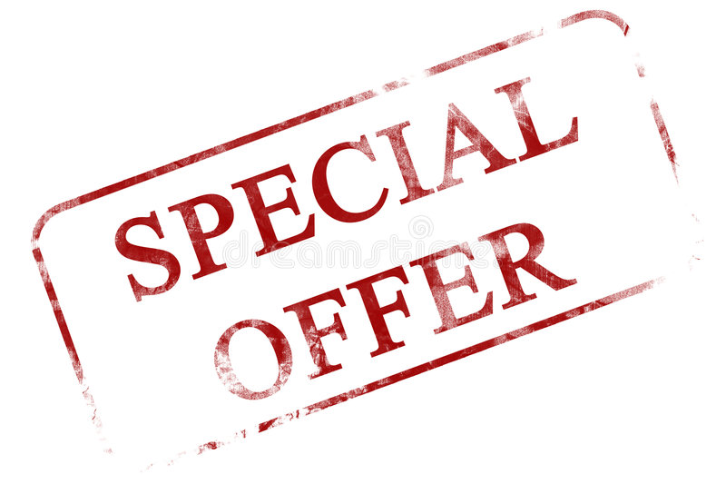 Special offer. Stamp on a white background