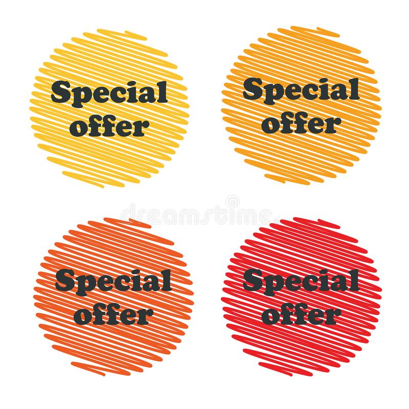 Special offer badges royalty free illustration