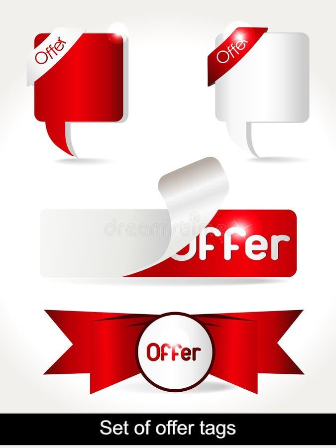 Special Offer Banner Set Vector illustration stock image