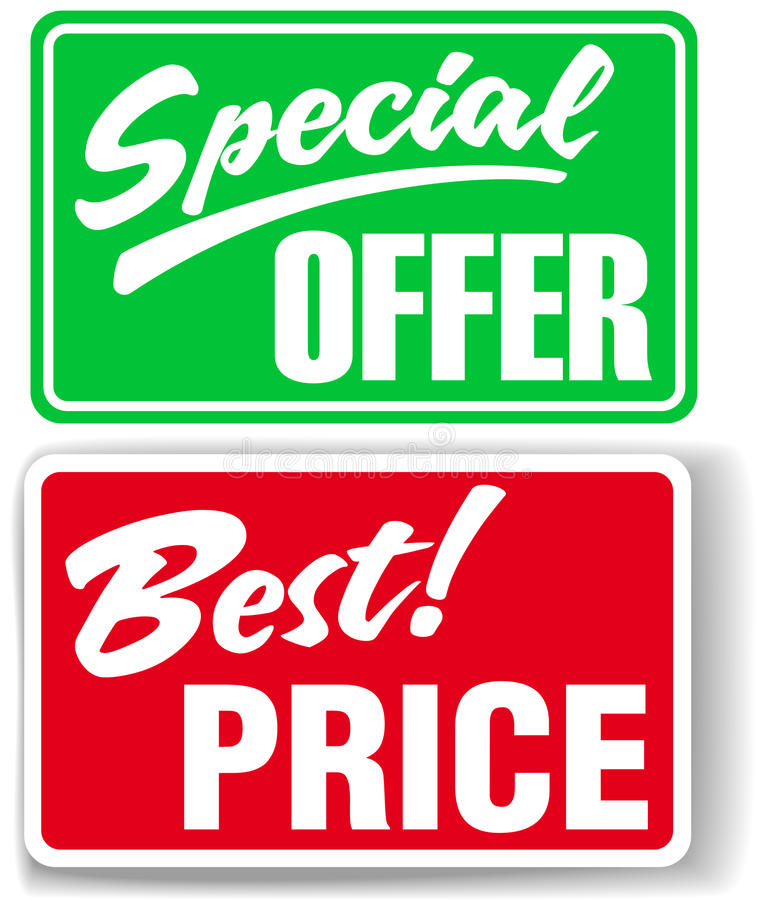 Download Special Offer Best Price Store Signs Stock Vector - Image: 25020013