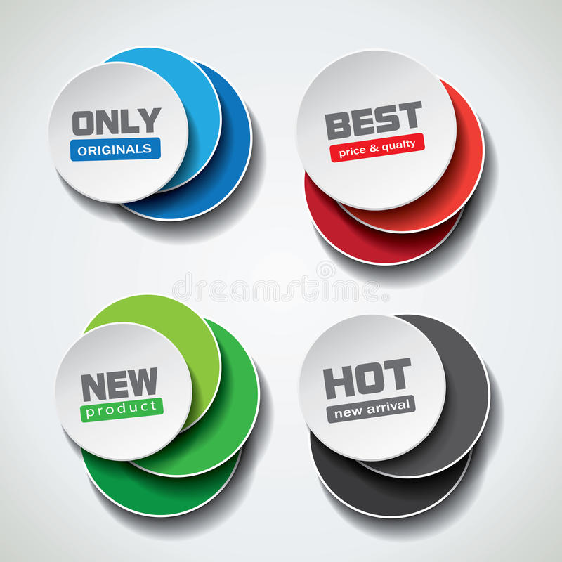 Special offer bubbles in different color variations. Vector illustration stock illustration