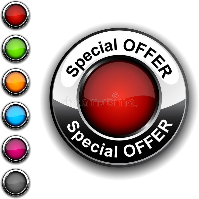 Special Offer Button. Royalty Free Stock Image