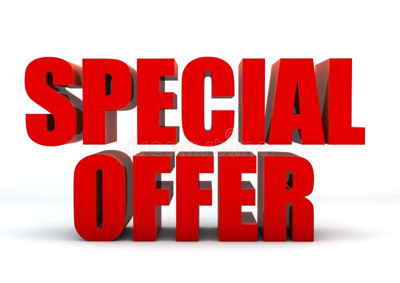 Special offer 3D vector illustration