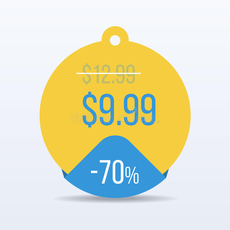 Special offer sale tag discount symbol retail sticker sign price. VECTOR. royalty free illustration