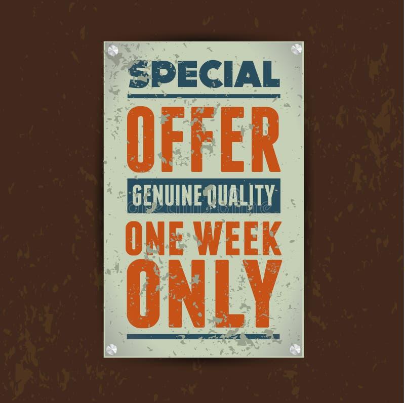 Download Special Offer Sale Vintage Metal Tin Stock Vector - Image: 28081885