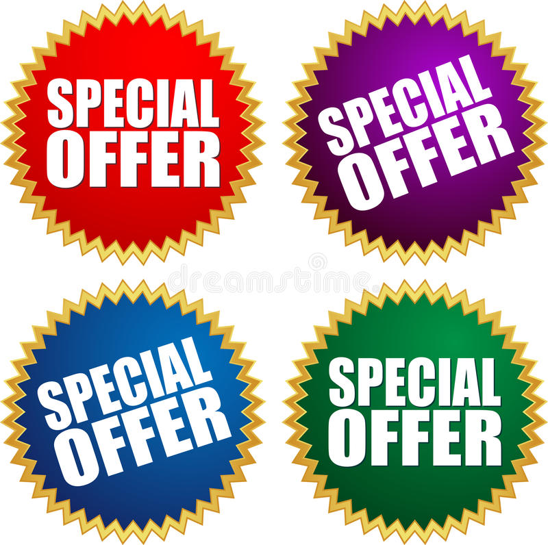 Special offer stock illustration