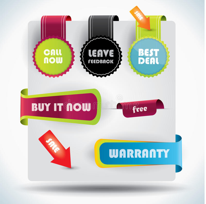 Download Special Offer And Warranty Labels Stock Vector - Image: 29122970
