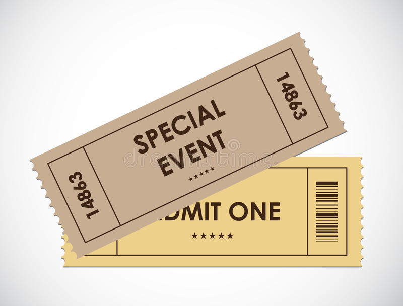 Special old entrance tickets royalty free illustration