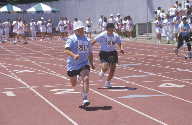 Download Special Olympics Athletes Running Race Editorial Photography - Image: 26905012