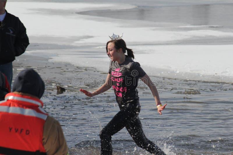 Special Olympics Nebraska Polar Plunge Miss Nebraska Contestant Leaving The Water Editorial Stock Image