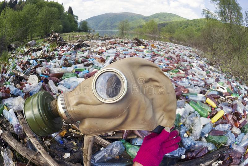 Special operation to clean up the river of debris stock foto