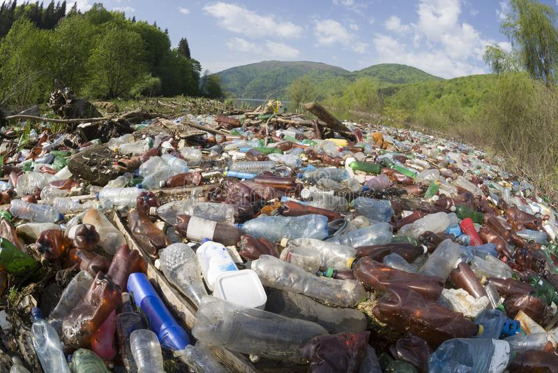 Special operation to clean up the river of debris royalty-vrije stock fotografie