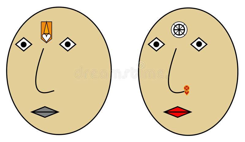 Special pair emoji for age celebrate stock photo