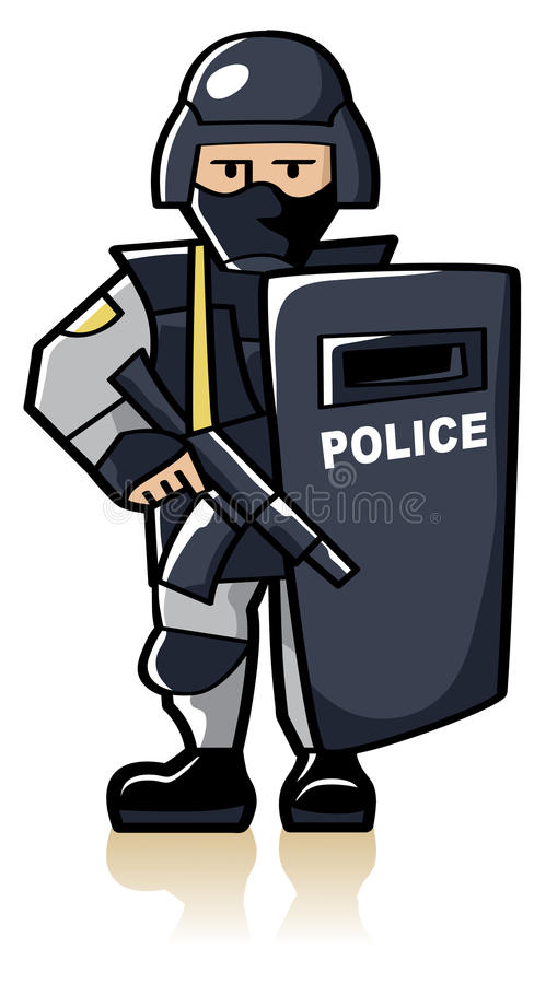 Special Police Officer Royalty Free Stock Photos