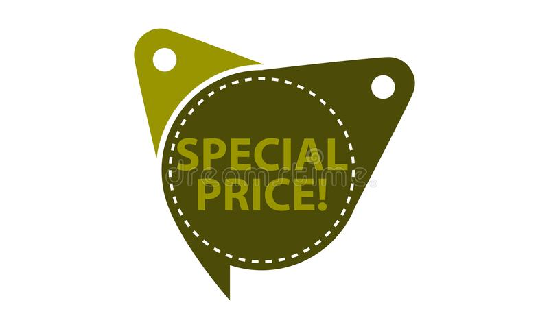 Special Price Tag Template Isolated royalty free illustration