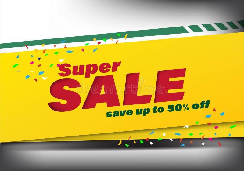 Special rabatt upp till 50% för toppet försäljningsmallbaner av Special rabatt upp till 50% för toppet försäljningsmallbaner av,  royaltyfri illustrationer