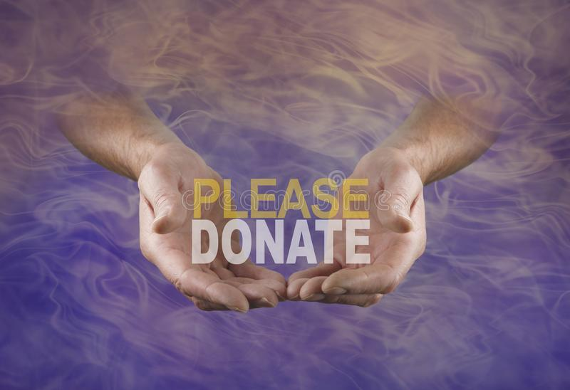 A special request to PLEASE DONATE and help raise funds stock photos