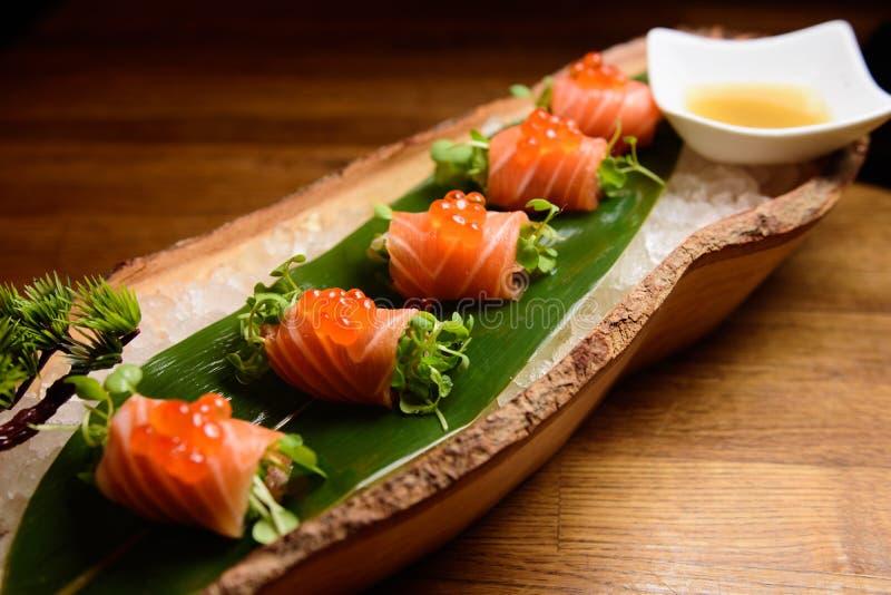 Special Salmon do sashimi foto de stock royalty free