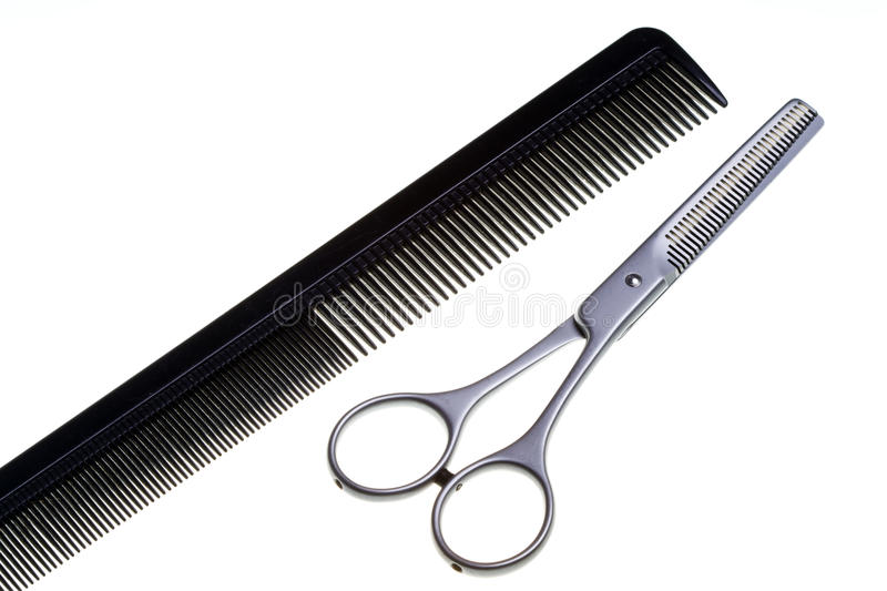 Special scissors for work of hairdresser stock photo